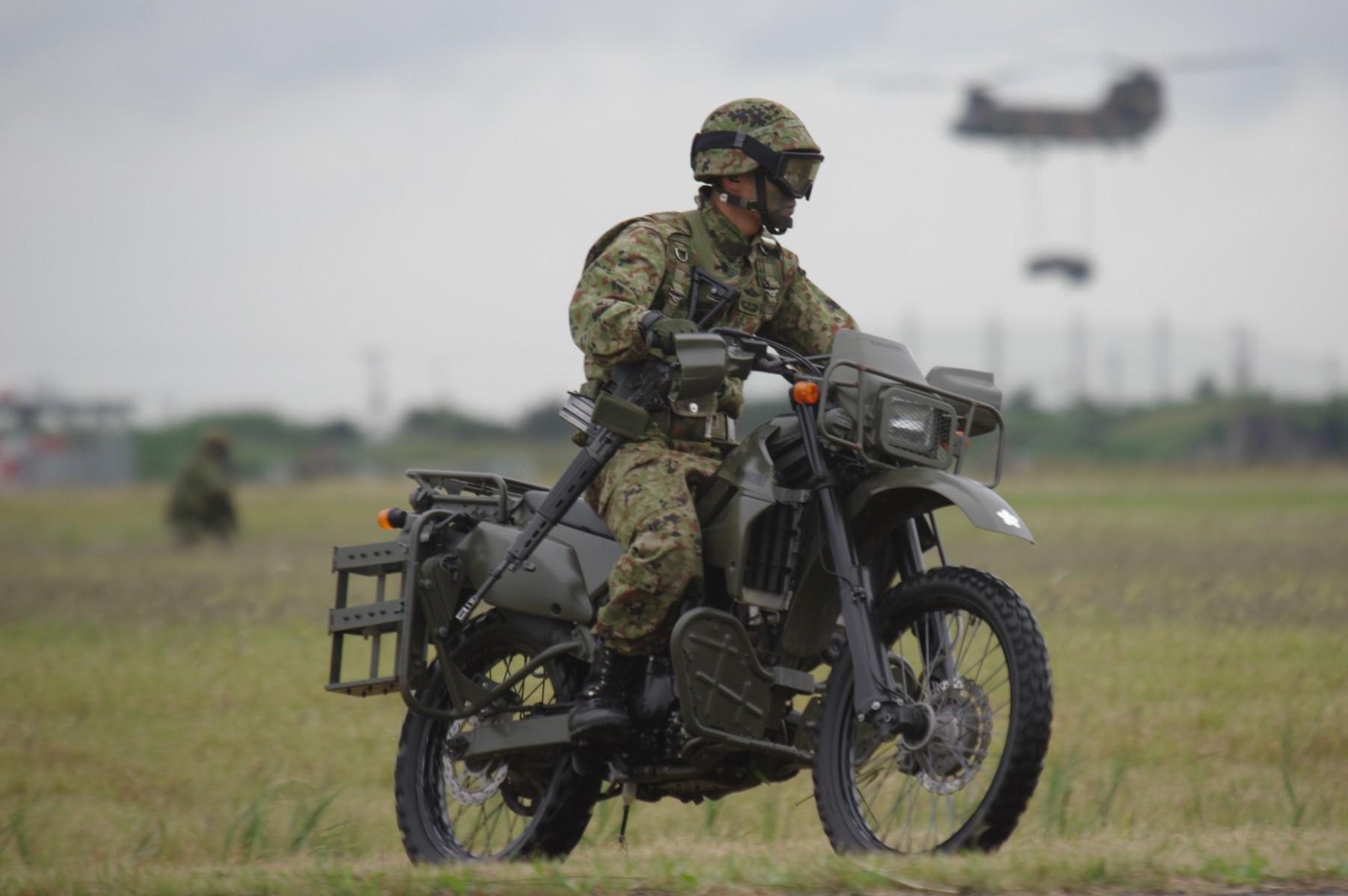 偵察用オートバイ|カワサキKLX250|陸上自衛隊装備品|陸自調査団
